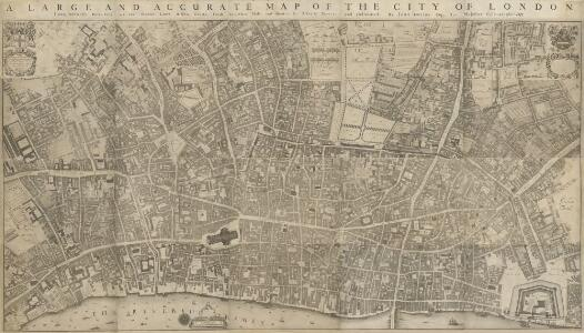 LARGE AND ACCURATE MAP OF THE CITY OF LONDON Ichnographically – Large London Map
