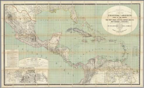 H. Kiepert's Karte des nordlichen Tropischen America.