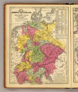 Germany, Switzerland, N. Italy.