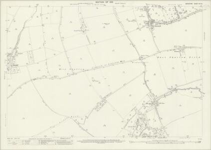 Berkshire XIV.13 (includes: Childrey; East Challow; Letcombe Bassett; Letcombe Regis; Wantage; West Challow) - 25 Inch Map