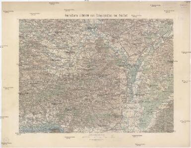 Generalkarte 1:200 000 zum Kriegsspielplan von Poisdorf