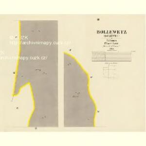 Bollewetz (Bolewec) - c0349-1-003 - Kaiserpflichtexemplar der Landkarten des stabilen Katasters