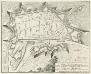 Plan d'Heilbrun. Avec la nouvelle Fortification, invente de fait dans ces Campagnes 1734 de L'An. 1735