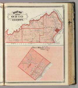Map of Ohio County. (with) City of Rising Sun, Ohio Co.