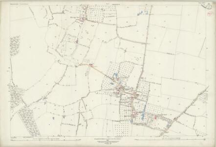 Gloucestershire XXVI.1 (includes: Boddington; Down Hatherley; Norton; Staverton) - 25 Inch Map