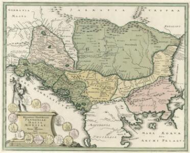 Regiones Danvbianae, Pannoniae Dacia ?oesiae cum Vicino Illyrico