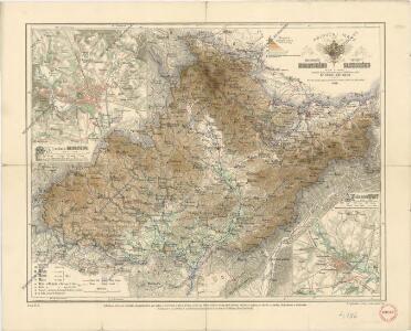 Příruční mapa markrabství moravského a vévodství slezského