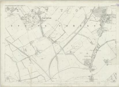 London (First Editions c1850s) XII (includes: Cann Hall; Leyton; West Ham) - 25 Inch Map