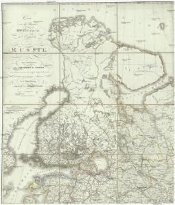 Carte de la partie européene de l'empire de Russie avec l'indication des chemins de poste