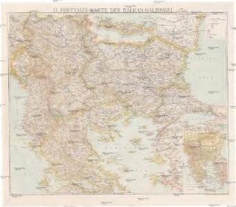 G. Freytag's Karte der Balkan-Halbinsel