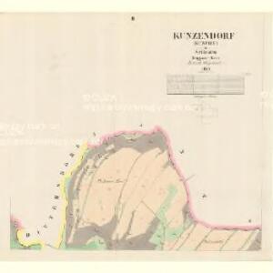 Kunzendorf (Kuncice) - m0475-2-002 - Kaiserpflichtexemplar der Landkarten des stabilen Katasters