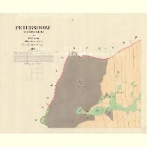 Petersdorf (Petrowice) - m0900-1-001 - Kaiserpflichtexemplar der Landkarten des stabilen Katasters