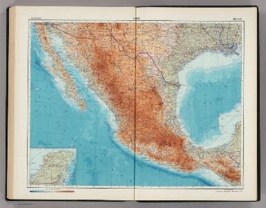 212-213.  Mexico.   The World Atlas.
