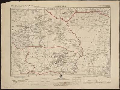 Carte des colonies de l'A.O.F. Dabakala
