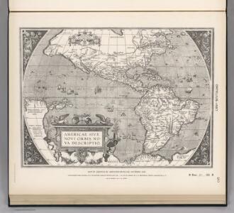 (Facsimile)  America by Ortelius.