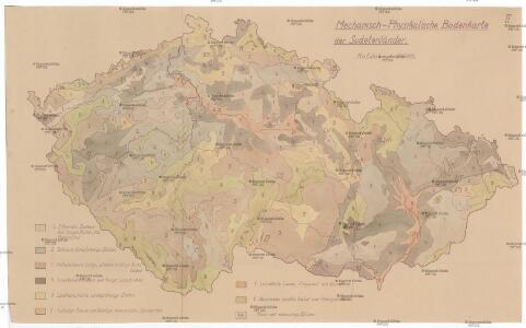 Mechanisch-physikalische Bodenkarte der Sudetenländer