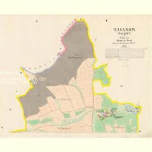 Tajanow - c7825-1-001 - Kaiserpflichtexemplar der Landkarten des stabilen Katasters