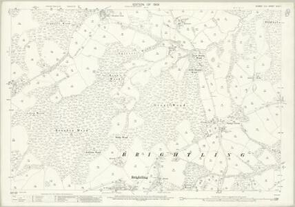 Sussex XLIII.1 (includes: Brightling) - 25 Inch Map