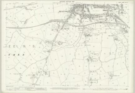 Essex (1st Ed/Rev 1862-96) XXV.14 (includes: Black Notley; Braintree and Bocking) - 25 Inch Map