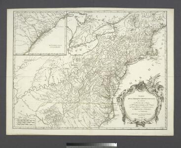Partie de l'Amérique septentrionale, qui comprend le cours de l'Ohio, la Nlle. Angleterre, la Nlle York, le New Jersey, la Pensylvanie, le Maryland, la Virginie, la Caroline / par le Sr. Robert de Vaugondy, géographe ordinaire du roi ; M. C. Haussard, fe