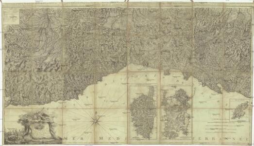 Carta topographica degli stati della republica di Genova secondo l' originale del famoso Chaffrion, con molte aumentazioni e correzioni
