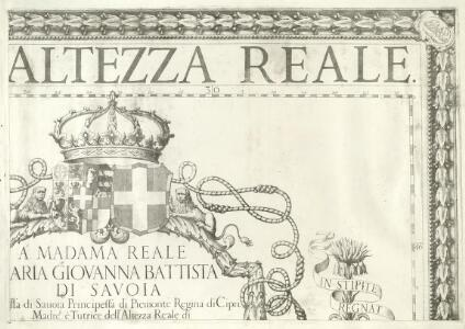 Carta Generale de Stati di Sva Altezza Reale