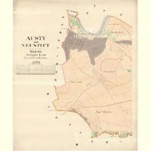 Austy - m3237-1-001 - Kaiserpflichtexemplar der Landkarten des stabilen Katasters