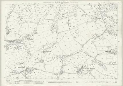 Devon XXIII.10 (includes: East Anstey; Knowstone) - 25 Inch Map