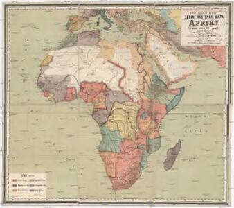 F. Umlaufta a J.G. Rothauga Školní nástěnná mapa Afriky