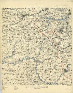 Cambrai-Saint Quentin. Scale, 1 : 100,000 or 1 inch to 1.58 miles