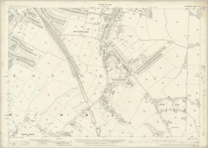 Middlesex I.12 (includes: South Mimms) - 25 Inch Map