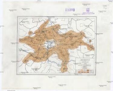 Isochronická a isochorická mapa okolí pražského