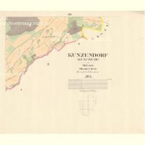Kunzendorf (Kunczicze) - m1423-1-011 - Kaiserpflichtexemplar der Landkarten des stabilen Katasters