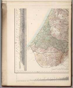 (Sheet 3).  Western Palestine Natural Drainage and the Mountain Ranges.