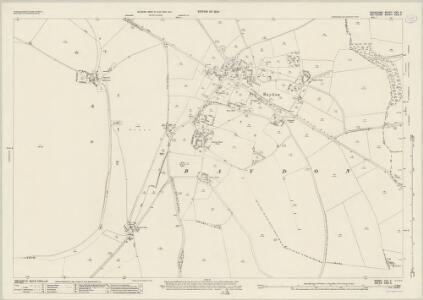 Berkshire XXV.5 (includes: Aldbourne; Baydon; Lambourn) - 25 Inch Map