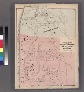 Plate 25: Parts of 1st Ward of the City of Yonkers, Mt. St. Vincent and Riverdale.