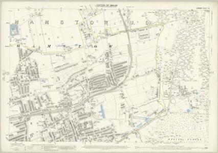 London (Edition of 1894-96) XV (includes: Leyton; Walthamstow) - 25 Inch Map