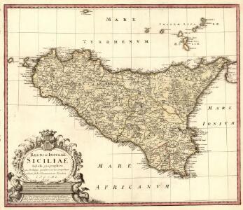 Regni & Insvlae Siciliae Tabula geographica ex Archetypo gradiori in hoc compendium redacta