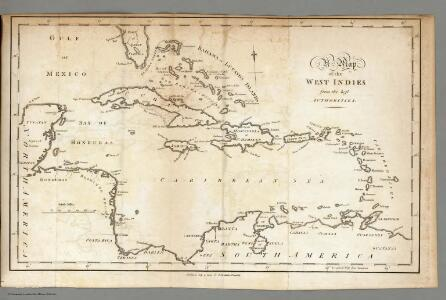 Map of the West Indies.