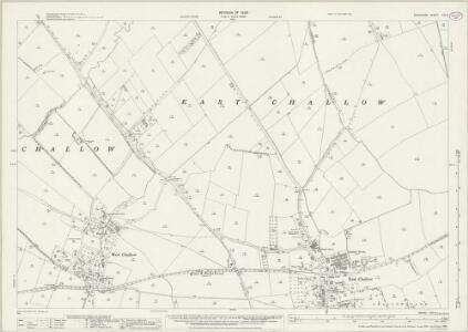 Berkshire XIV.9 (includes: Childrey; East Challow; Grove; West Challow) - 25 Inch Map