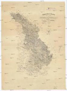 Uebersichts-Karte des Eisenbahnzuges der Süd-Norddeutschen Verbindungsbahn von Pardubitz nach Reichenberg