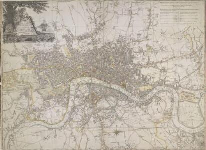 LAURIE and WHITTLE'S NEW MAP OF LONDON WITH ITS ENVIRONS