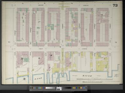 Manhattan, V. 4, Double Page Plate No. 73  [Map bounded by 2nd Ave., E. 37th St., East River, E. 31st St.]