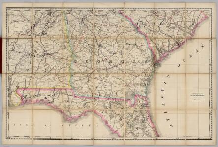 (Georgia, Alabama) Railroad Map of the United States.