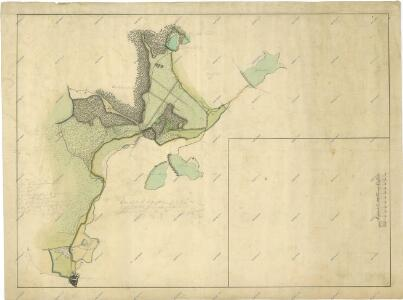 Plán rybníka a luk u Cepu
