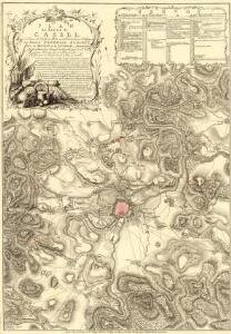 Plan du Siege de Cassel, avec les Travaux et les Tranchées des Alliés devant cette Place