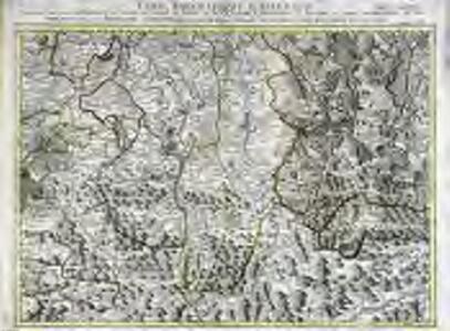 Carte topographique d'Allemagne contenant une partie de Baviére de Suabe du comté de Tirol et de l'eveché d'Augspourg