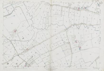 Somerset LXXXV.1 (includes: Henstridge; Kington Magna) - 25 Inch Map