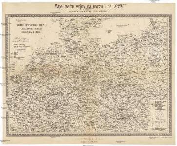 Mapa teatru wojny na morzu i na lądzie