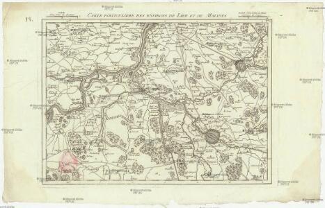 Carte particuliere des environs de Lier et de Malines